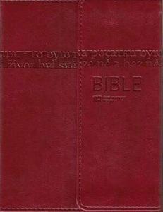 Bible ČEP s DT - měkká vazba s magnetickou klopou, vínová