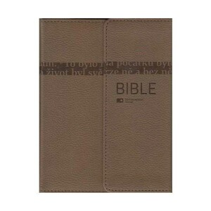Bible ČEP s DT -malá, magnet, pevná vazba, kávově hnědá