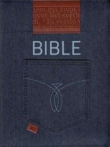 Bible ČEP s DT - kapesní vydání se zipem, jeans