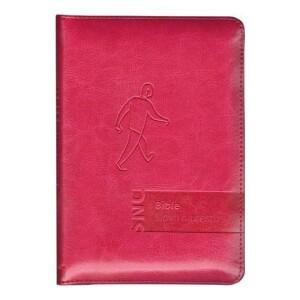 Bible-Slovo na cestu, malý formát, malinová, zip